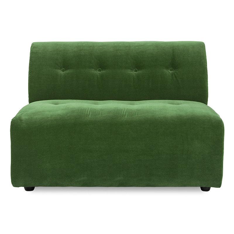 HKliving-collectie Vint bank element midden 1,5-seat royal velvet groen