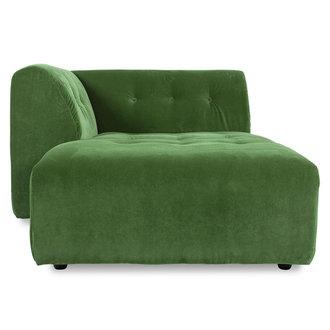 HKliving vint couch: element left divan, royal velvet, green