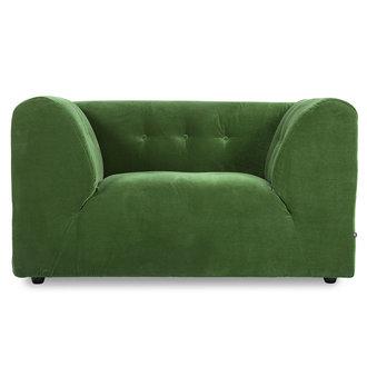 HKliving Vint bank element loveseat royal velvet groen