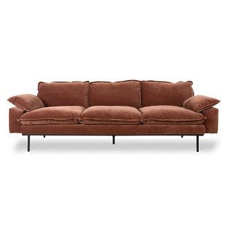 HKliving retro sofa: 4-seats, royal velvet, magnolia