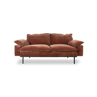 HKliving retro sofa: 2-seats, royal velvet, magnolia