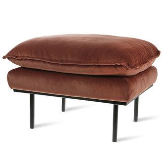 HKliving retro sofa: hocker, royal velvet, magnolia