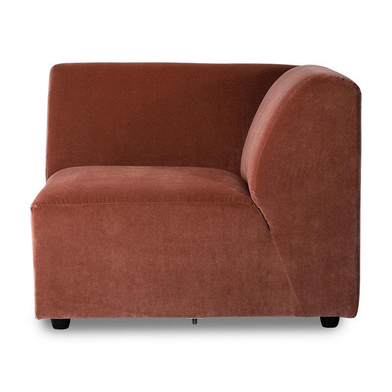 HKliving-collectie jax couch: element right corner, royal velvet, magnolia