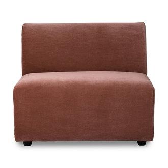 HKliving jax couch: element middle, royal velvet, magnolia