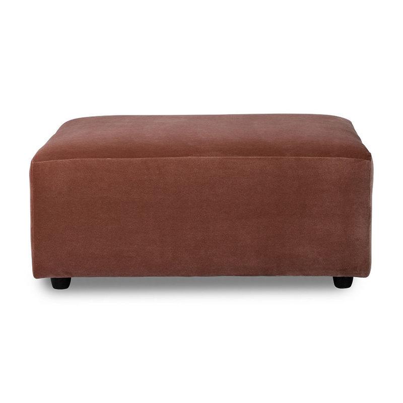 HKliving-collectie jax couch: element hocker, royal velvet, magnolia