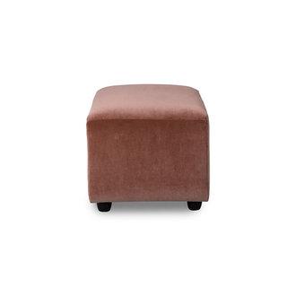 HKliving jax couch: element hocker small, royal velvet, magnolia