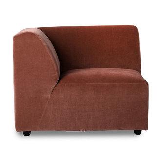 HKliving jax couch: element left end, royal velvet, magnolia