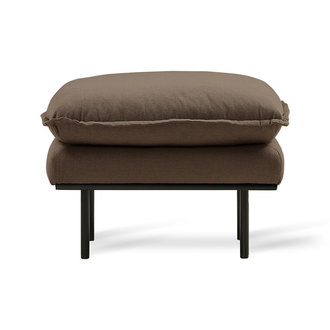 HKliving retro sofa: hocker, linen shadow, brown