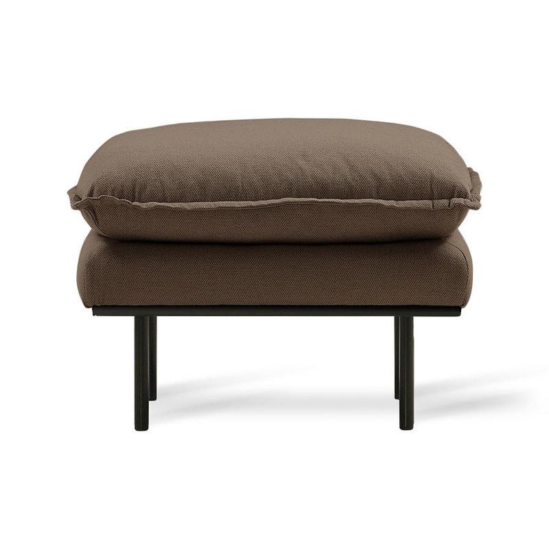 HKliving-collectie retro sofa: hocker, linen shadow, brown