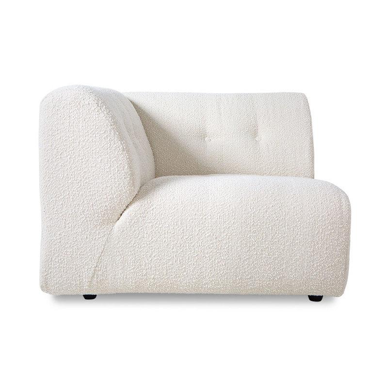 HKliving-collectie vint couch: element left, boucle, cream