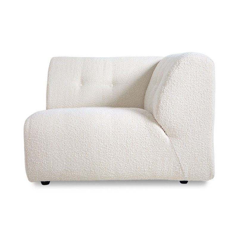 HKliving-collectie vint couch: element right, boucle, cream