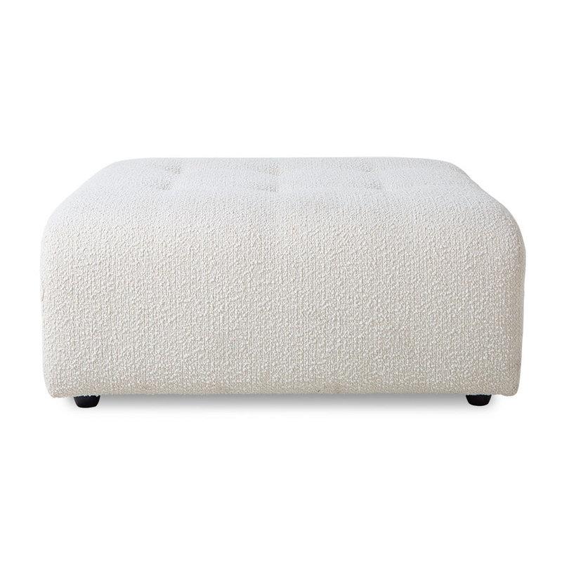 HKliving-collectie vint couch: element hocker, boucle, cream