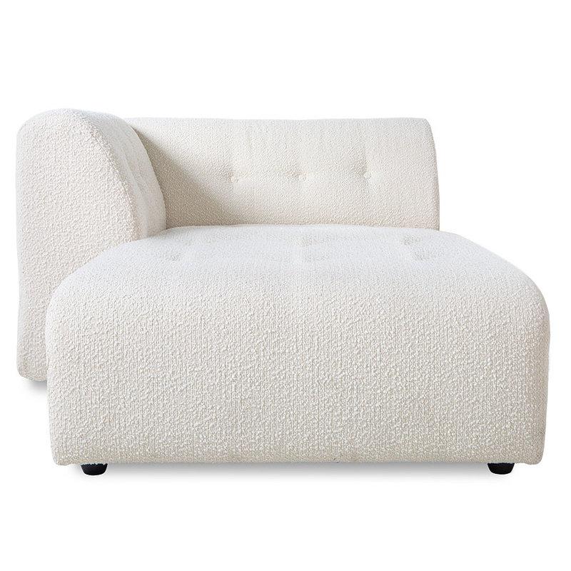 HKliving-collectie vint couch: element left divan, boucle, cream