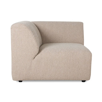 HKliving jax couch: element left corner, boucle, taupe
