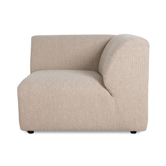 HKliving jax couch: element right corner, boucle, taupe