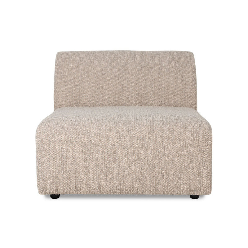 HKliving-collectie Jax bank element midden boucle taupe