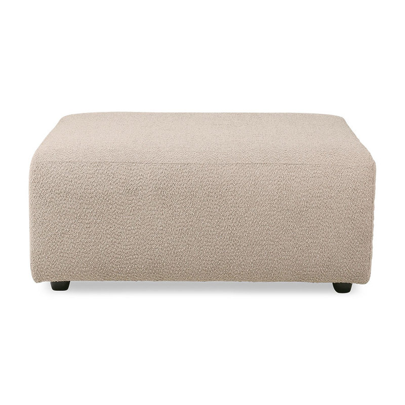 HKliving-collectie Jax bank element hocker boucle taupe