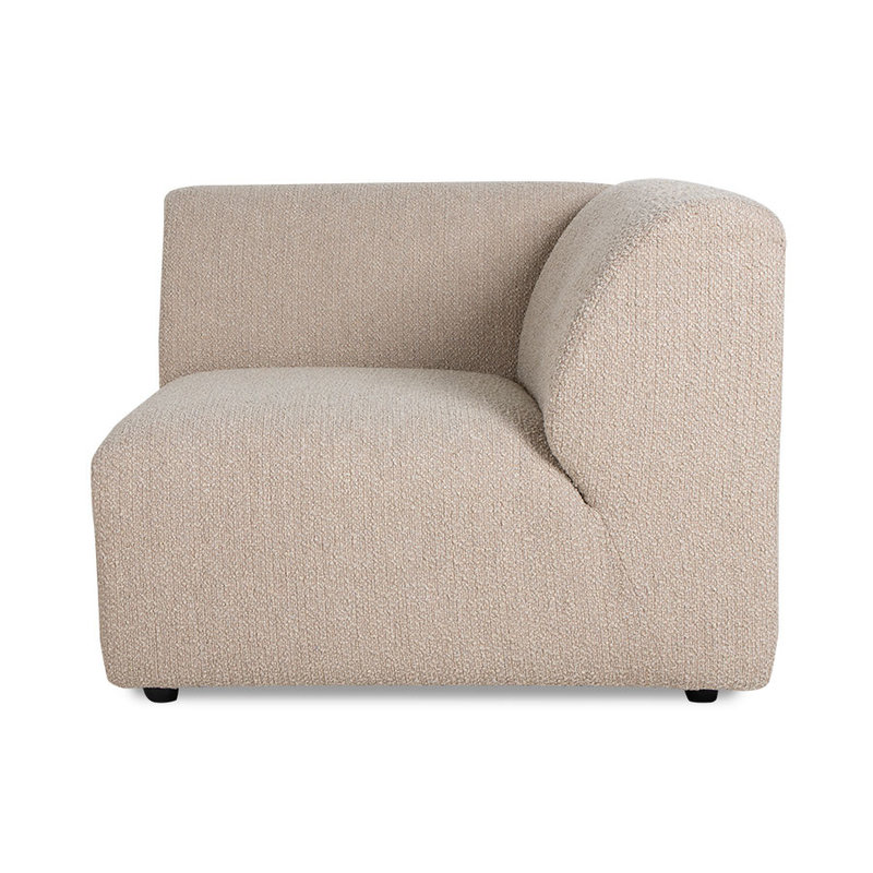 HKliving-collectie jax couch: element right end, boucle, taupe