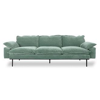 HKliving retro sofa: 4-seats, velvet, mint