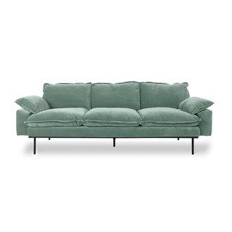 HKliving retro sofa: 3-seats, velvet, mint