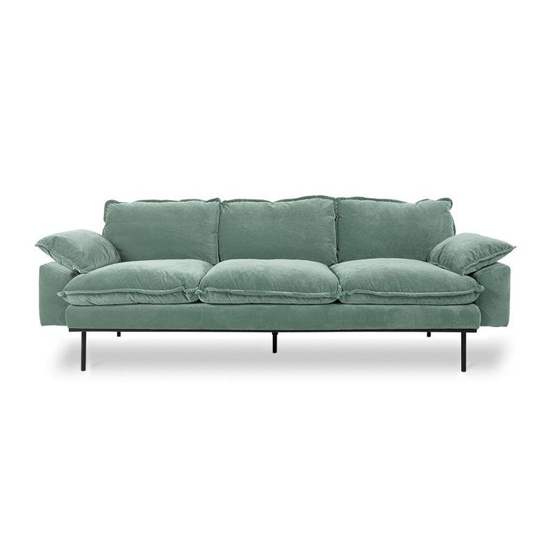 HKliving-collectie retro sofa: 3-seats, velvet, mint