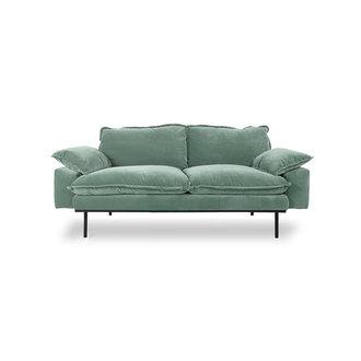 HKliving retro sofa: 2-seats, velvet, mint