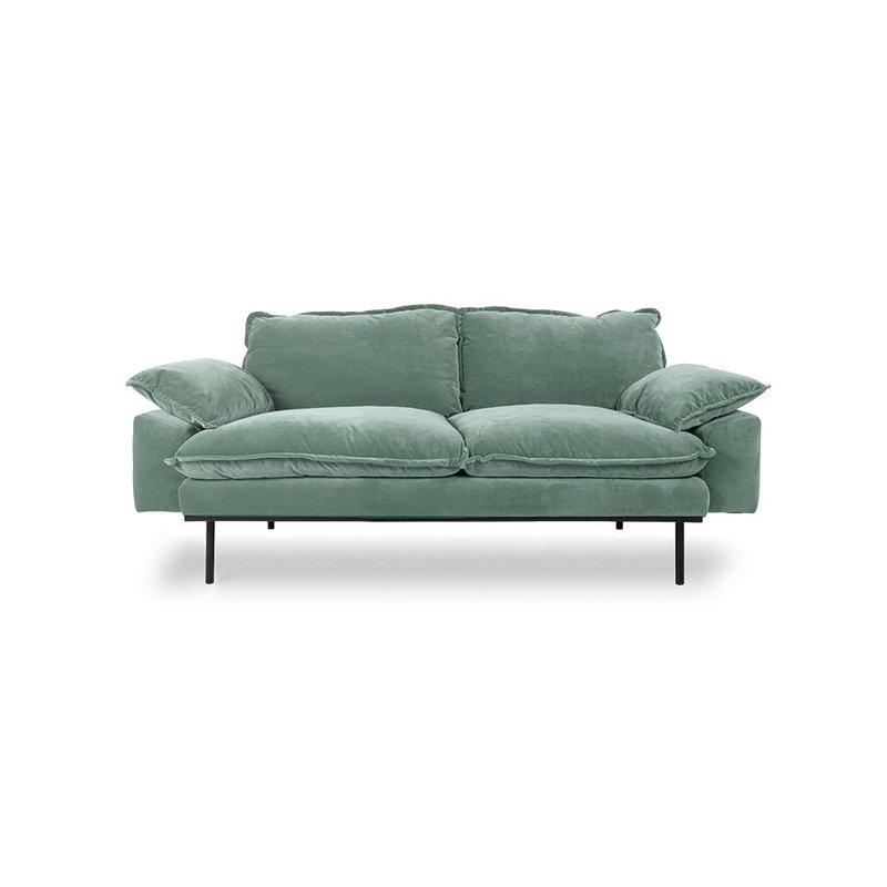 HKliving-collectie retro sofa: 2-seats, velvet, mint