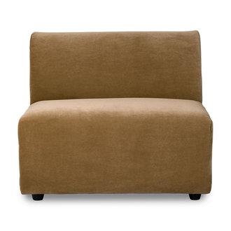 HKliving jax couch: element middle, velvet, mustard