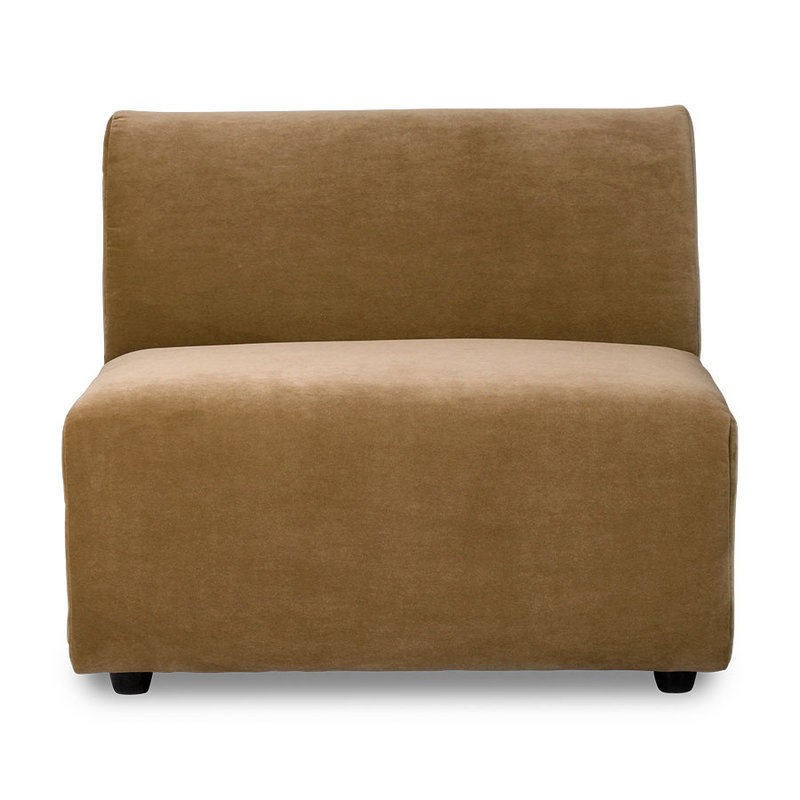 HKliving-collectie jax couch: element middle, velvet, mustard