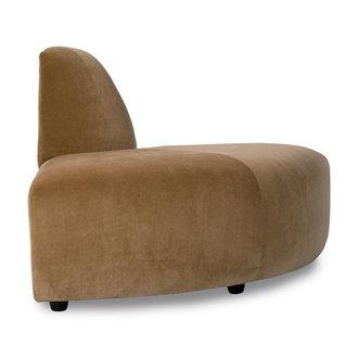 HKliving jax couch: element angle, velvet, mustard
