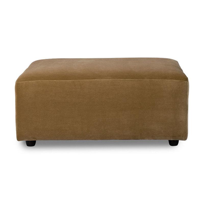 HKliving-collectie jax couch: element hocker, velvet, mustard