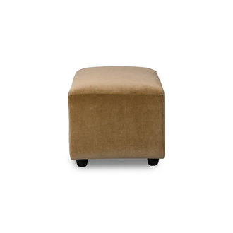 HKliving jax couch: element hocker small, velvet, mustard