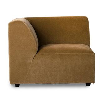 HKliving jax couch: element left end, velvet, mustard