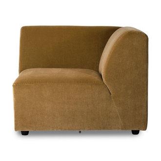 HKliving jax couch: element right end, velvet, mustard