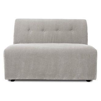 HKliving vint couch: element middle 1,5-seat, corduroy rib, cream