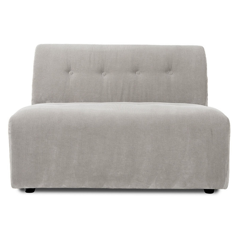HKliving-collectie vint couch: element middle 1,5-seat, corduroy rib, cream