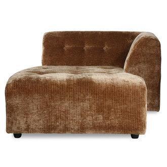 HKliving vint couch: element right divan, corduroy velvet, aged gold