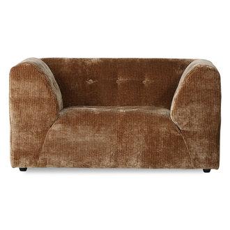 HKliving vint couch: element loveseat, corduroy velvet, aged gold
