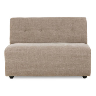 HKliving vint couch: element middle 1,5-seat, linen blend, taupe