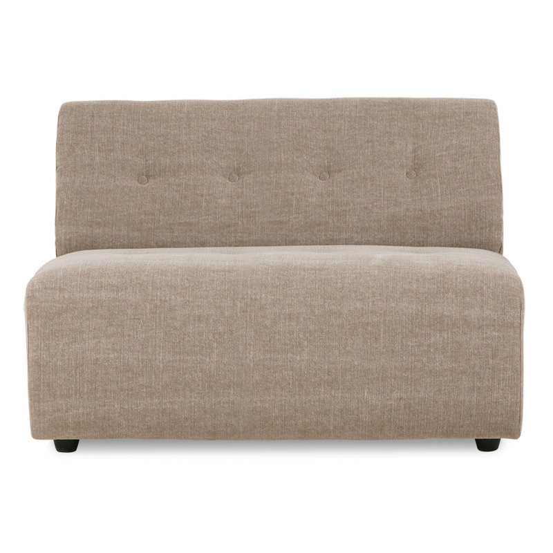 HKliving-collectie vint couch: element middle 1,5-seat, linen blend, taupe
