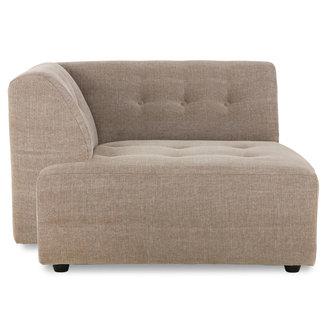 HKliving vint couch: element left divan, linen blend, taupe