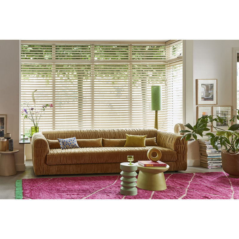 HKliving-collectie club couch: velvet, mustard