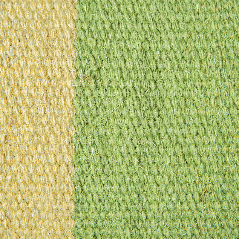 HKliving-collectie hand woven wool cushion green (38x74)