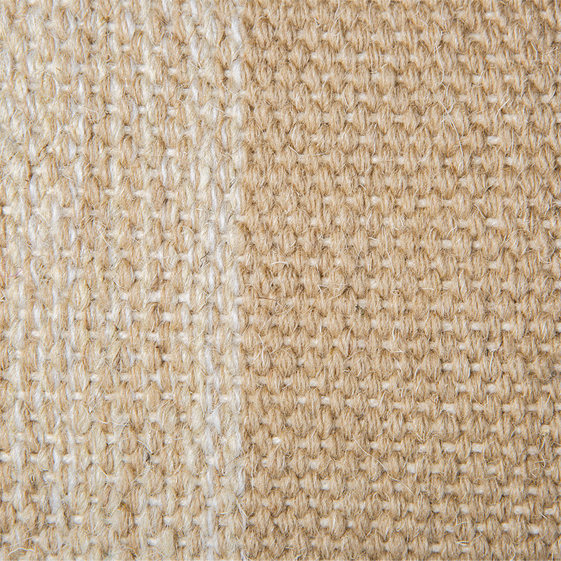 HKliving-collectie hand woven wool cushion camel (38x74)