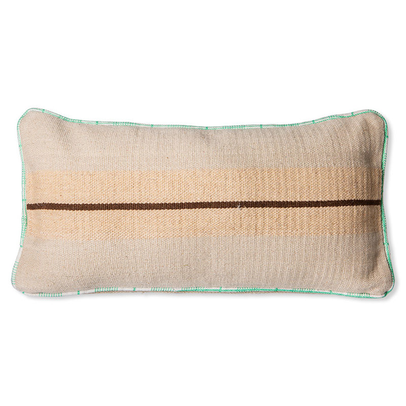 HKliving-collectie hand woven wool cushion brown (38x74)