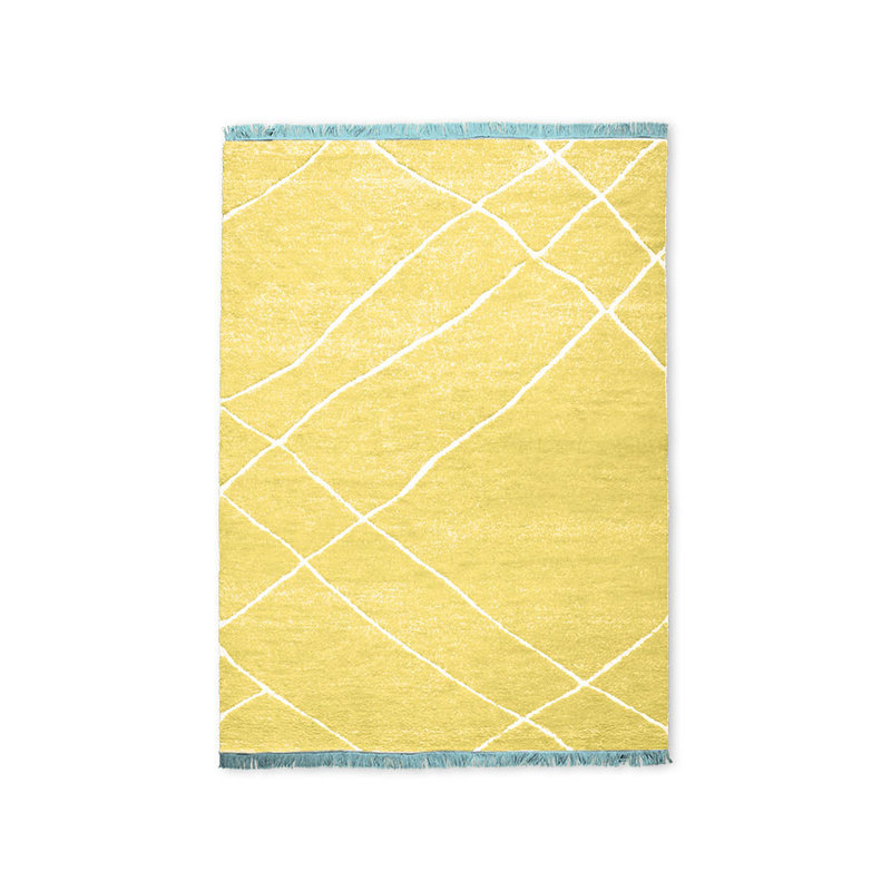 HKliving-collectie hand knotted woolen rug yellow (180x280)