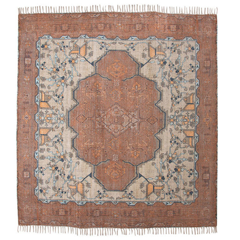HKliving-collectie printed rug square overtufted (250x250)