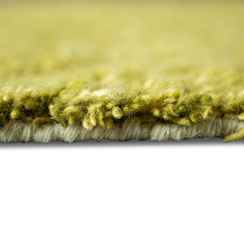 HKliving-collectie hand knotted woolen runner olive/purple (80x300)