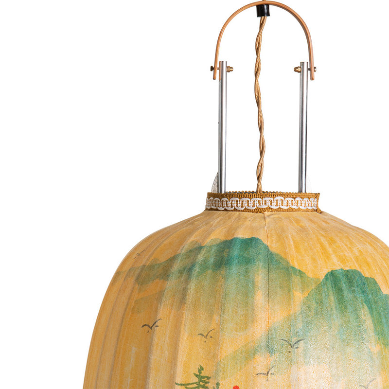 HKliving-collectie traditional lantern landscape painting oval L