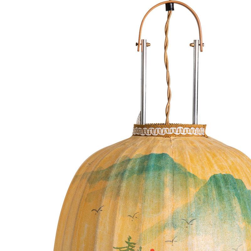 HKliving-collectie Traditionele lantaarn landscape schilderij ovaal L